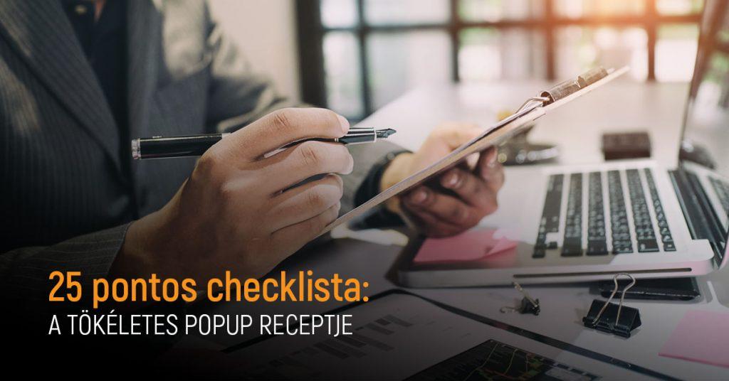 25 pontos checklista  a tökéletes popup receptje e7faa79b71