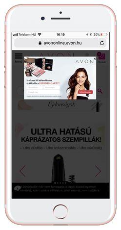 AVON mobil popup